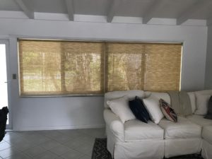 light filtering Bamboo roller shades $360